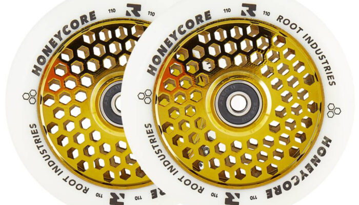 Root Honeycore Gold Rush 2-pack Pro Scooter Wheels (110mm)