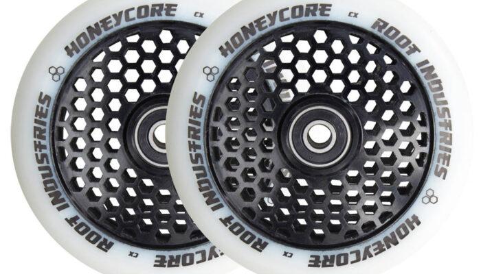 Root Honeycore Wheels 110mm   White / Black