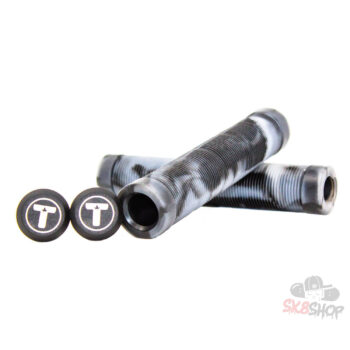 Trynyty Swirl Pro Scooter Grips (Black/Transparent)