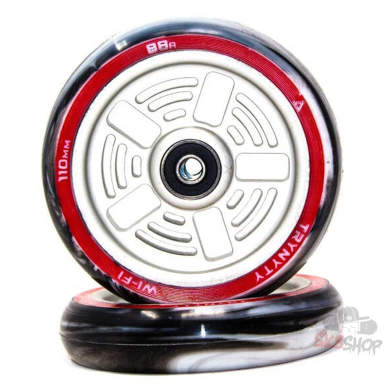 Trynyty Wi-Fi Pro Scooter Wheels 2-Pack (110mm, Silver)