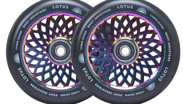 Root Industries – Lotus Wheels 110mm   (Rocket Fuel/Black)