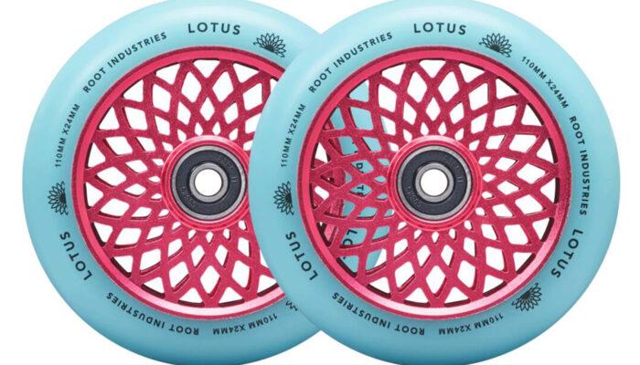 Root Industries – Lotus Wheels 110mm   (Pink/Isotope)