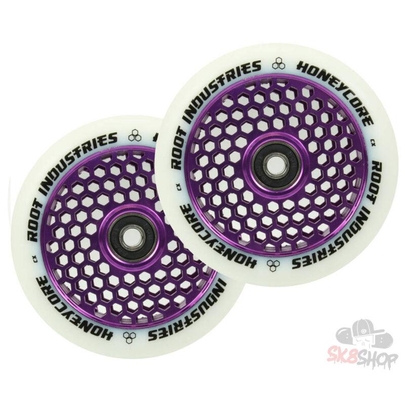 Root Honeycore Wheels 110mm | White / Purple