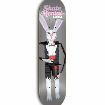 "Skate Mental Giorgi Rabbit Doll Pink Skateboard Deck  8.25"""