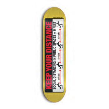 Skate Mental Keep Your Distance Skateboard Deck - 8.125