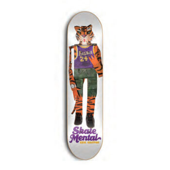 "Skate Mental Koston Tiger White  Skateboard Deck 8"""