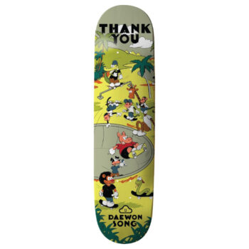 "Thank You Daewon Song Skate Oasis Skateboard Deck 8"""