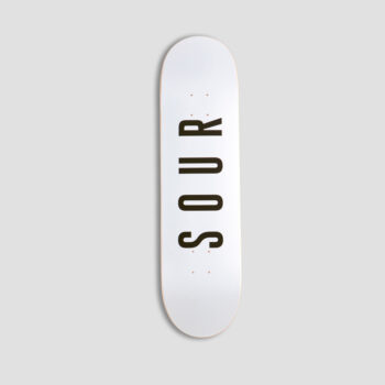Sour Army White Skateboard Deck 8.25